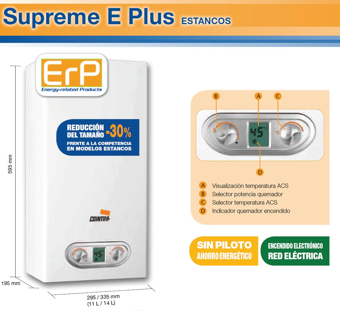 Calentador Cointra Supreme 14 E PLUS